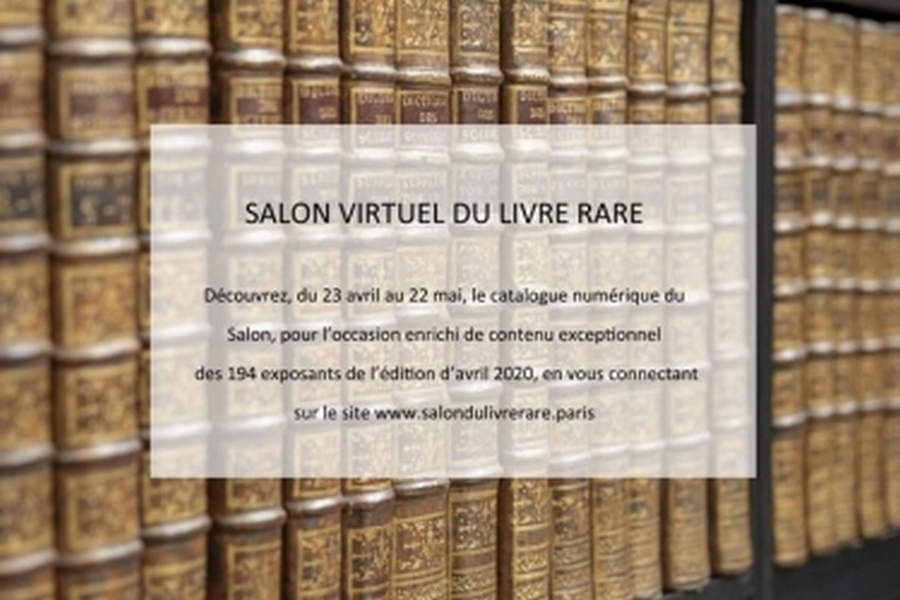 Vernissage virtuel du Salon du Livre Rare